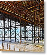 The Brighton Pier  Metal Print
