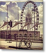 The Brighton Wheel Metal Print