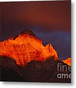 The Brilliance Of Light Mount Rundle Banff Metal Print