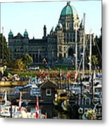 The British Columbia Capitol And Marina Metal Print