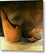 The Broken Terracotta Pot Metal Print