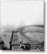 The Brooklyn Bridge 1902 Metal Print