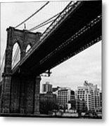 The Brooklyn Bridge New York City East River Metal Print