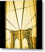 The Brooklyn Bridge New York Metal Print