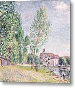 The Builder's Yard At Matrat Moret-sur-loing Metal Print by Alfred Sisley