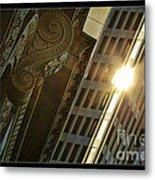The Building Twightlight Metal Print