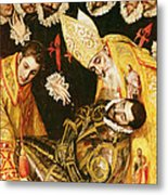 The Burial Of Count Orgaz Metal Print