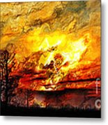 The Burning - Digital Paint Metal Print
