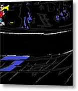 The Busker  Metal Print by  Lines
