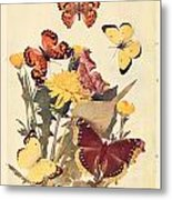 The Butterfly Book Metal Print