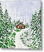 The Cabin Metal Print by Judy M Watts-Rohanna