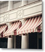 The Cafe Awnings At Chautauqua Institution New York  Metal Print