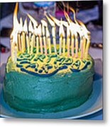 The Cake Is On Fire Metal Print