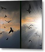 The Call - The Caw - Gently Cross Your Eyes And Focus On The Middle Image Metal Print