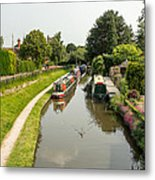 The  Trent And Mersey Canal At Alrewas Metal Print