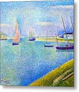 The Canal At  Gravelines Metal Print