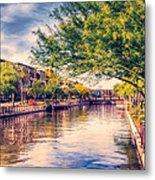 The Canal In Downtown Scottsdale Metal Print