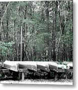 The Canoes  Metal Print