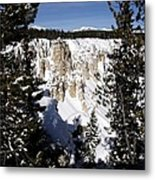 The Canyon In Winter Metal Print