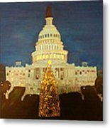 The Capitol At Christmas Metal Print