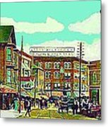 The Capitol Theatre And Main St. In Pawtucket Ri In 1905 Metal Print