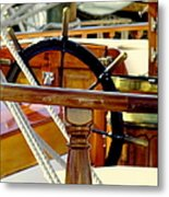 The Captain's Wheel Metal Print