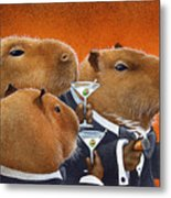 The Capybara Club... Metal Print