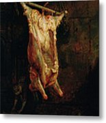 The Carcass Of An Ox, Late 1630s Metal Print