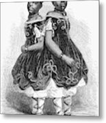 The Carolina Twins, 1866 Metal Print