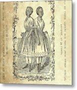 The Carolina Twins, C1869 Metal Print