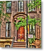 The Carrie Bradshaw Stoop From Sex And The City Metal Print