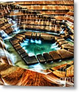 The Cascading Falls - Fort Worth Water Garden  Metal Print