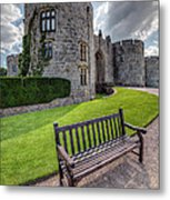 The Castle Bench Metal Print