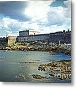 The Castle Fort On The Harbor Metal Print