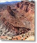 The Castle In Capitol Reef Np Metal Print