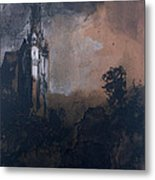 The Castle In The Moonlight  Metal Print