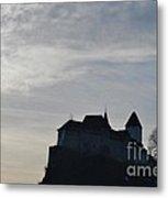 The Castle Silhouette Metal Print