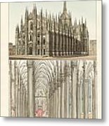The Cathedral Of Milan Metal Print