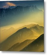 The Cattle-back Mountain Sunset Metal Print