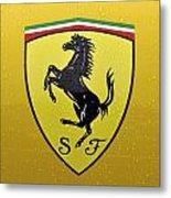 The Cavallino Rampante Symbol Of Ferrari Metal Print