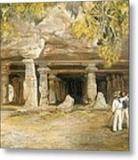 The Cave Of Elephanta, From India Metal Print