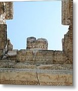 The Ceiling Of The Tetrapylon Aphrodisias Metal Print by Tracey Harrington-Simpson