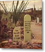 The Cemetery At Boothill Metal Print