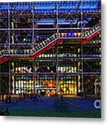 The Centre Pompidou-paris Metal Print
