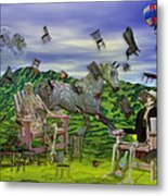 The Chairs Of Oz Metal Print