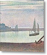 The Channel At Gravelines In The Evening Metal Print