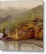 The Charming Town Of Camogli Italy Metal Print