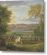 The Chateau Of Saint Germain Oil On Canvas Metal Print
