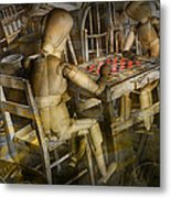 The Checker Game Metal Print