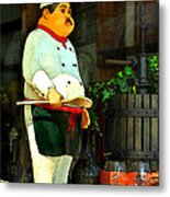 The Chef In The Window Metal Print